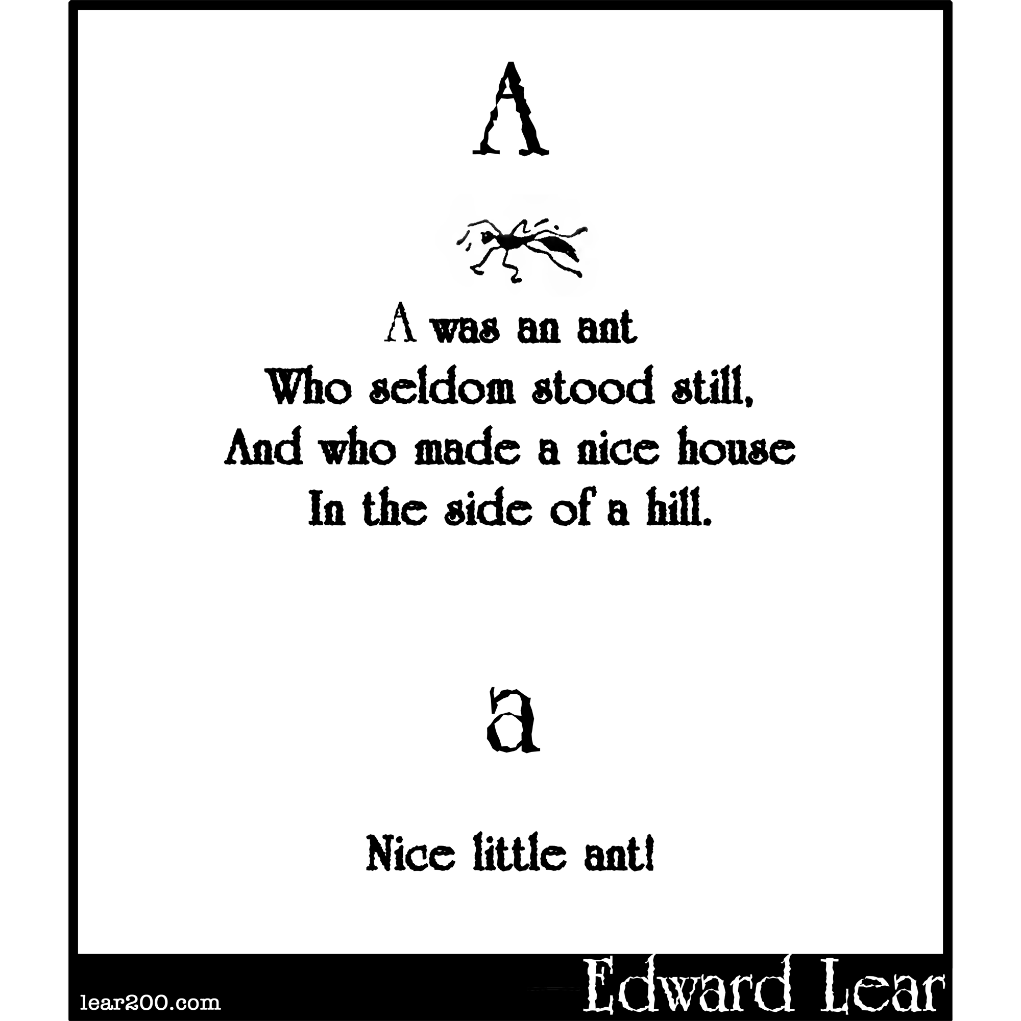 A was an ant