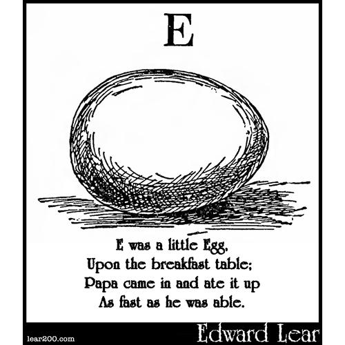 E was a little Egg