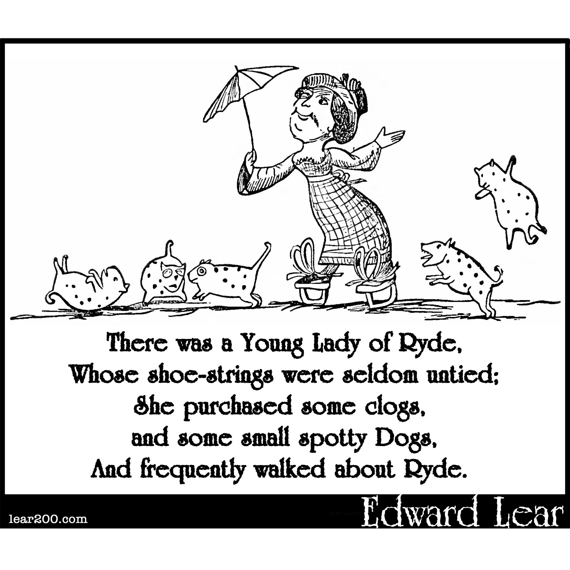 There was a Young Lady of Ryde