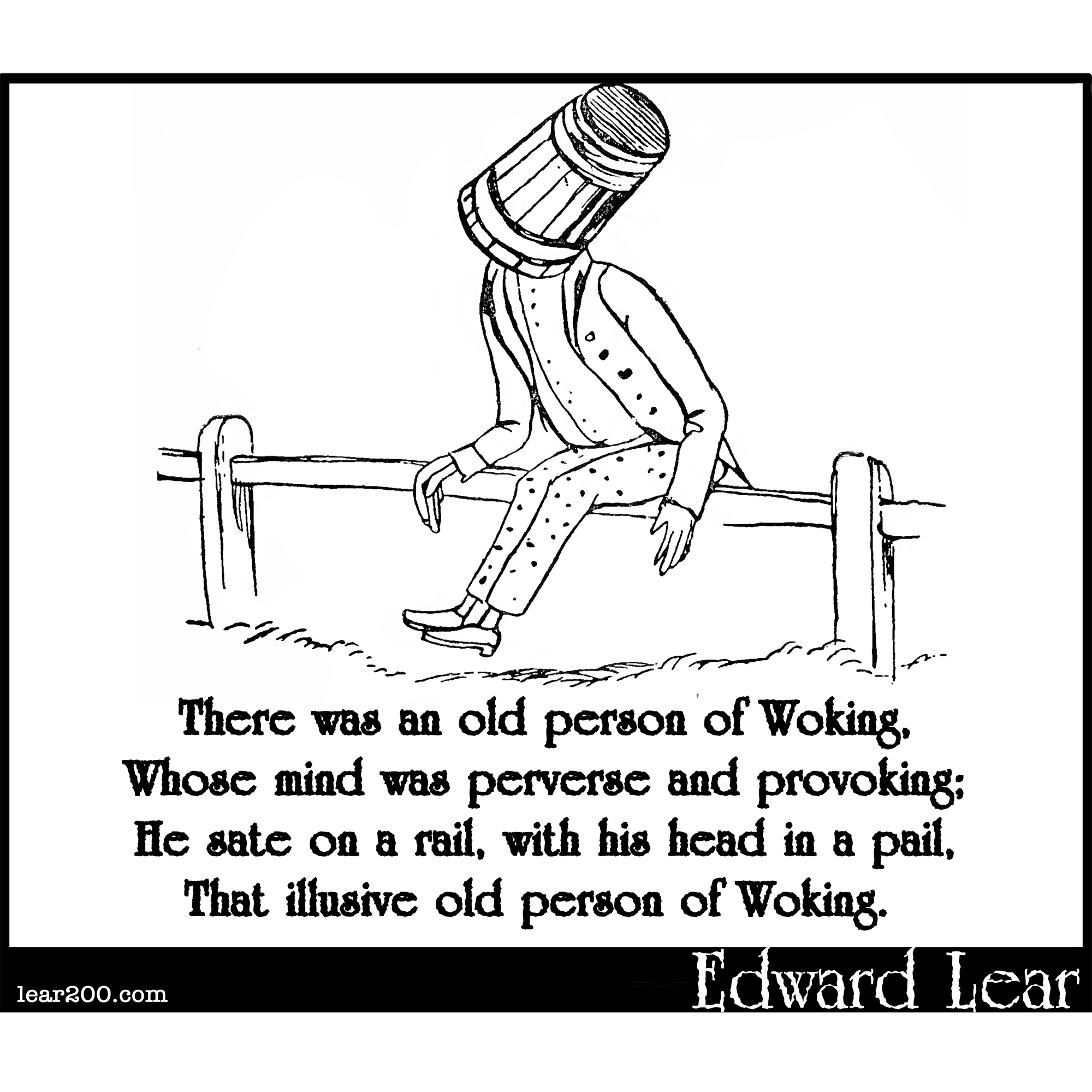 There was an old person of Woking