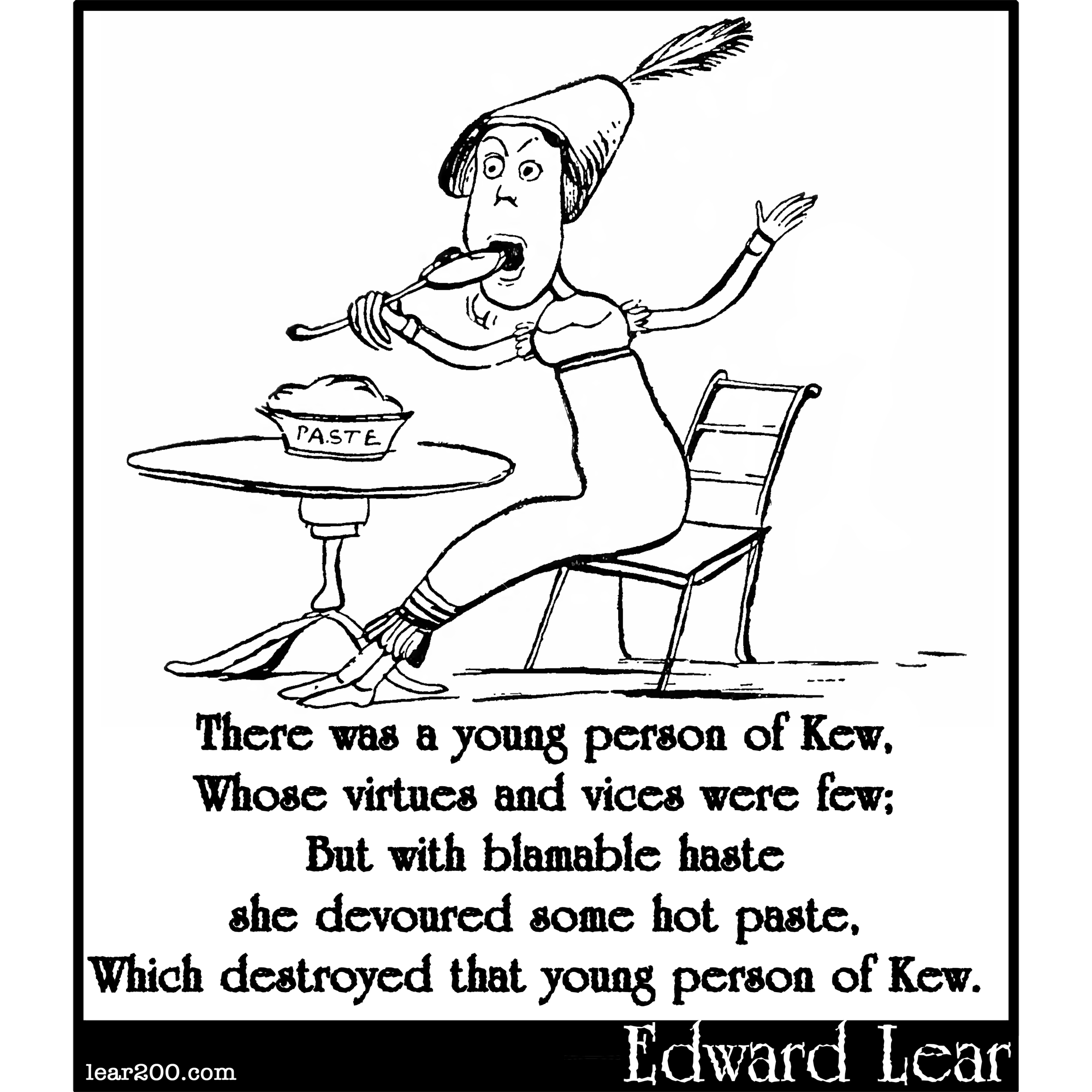 There was a young person of Kew