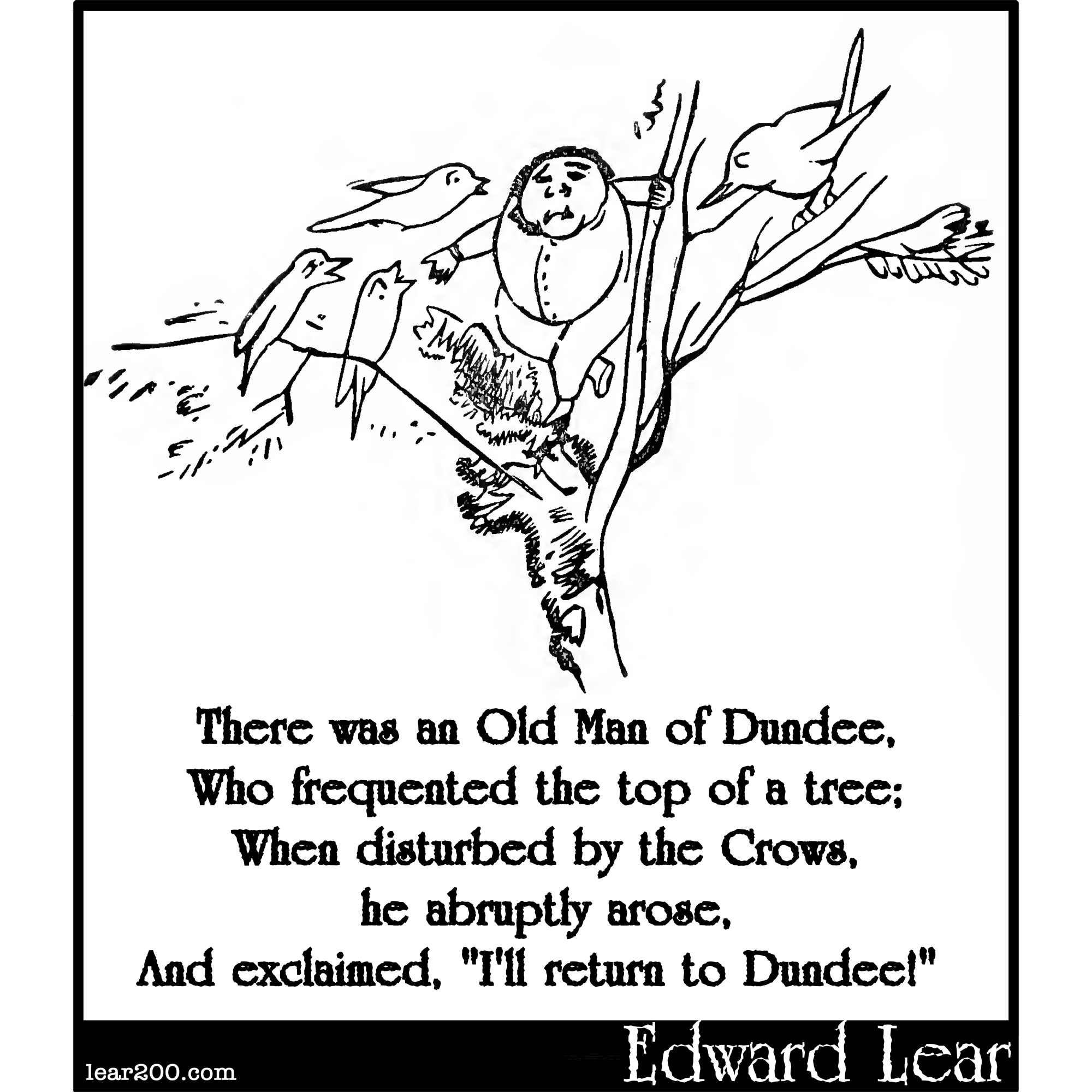 There was an Old Man of Dundee