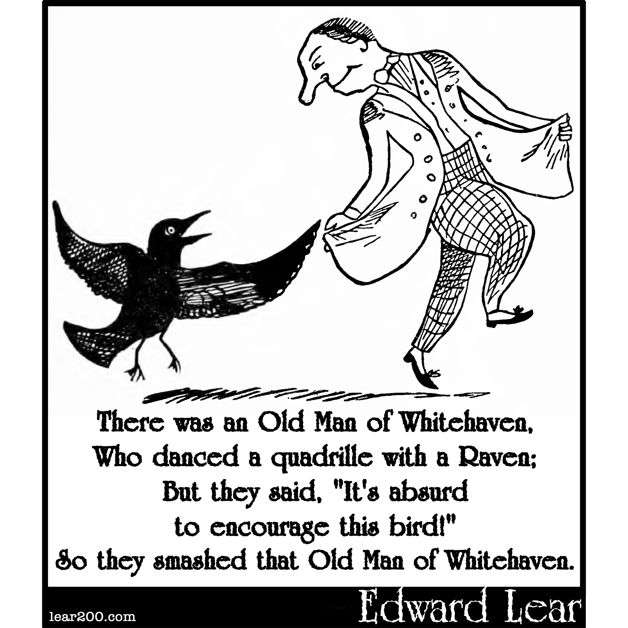 There was an Old Man of Whitehaven