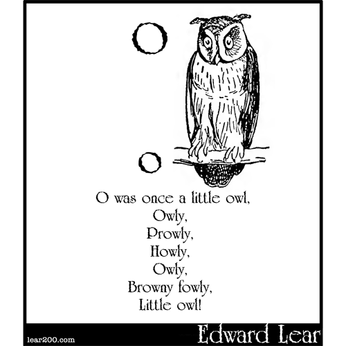 O was once a little owl