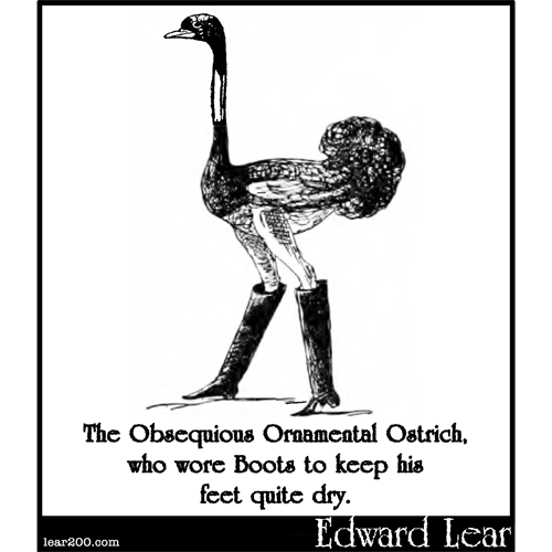 The Obsequious Ornamental Ostrich
