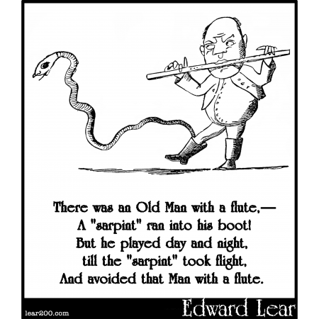 There was an Old Man with a flute