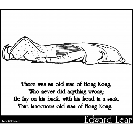 There was an old man of Hong Kong