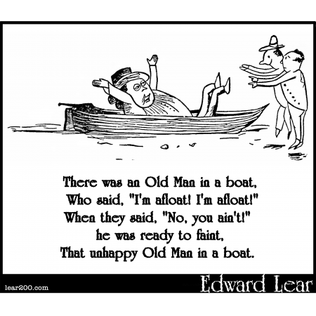 There was an Old Man in a boat