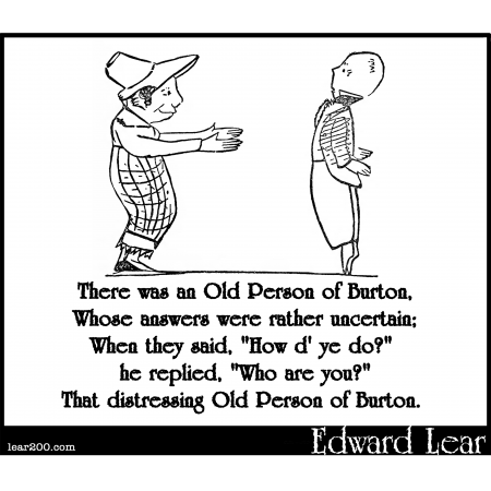 There was an Old Person of Burton