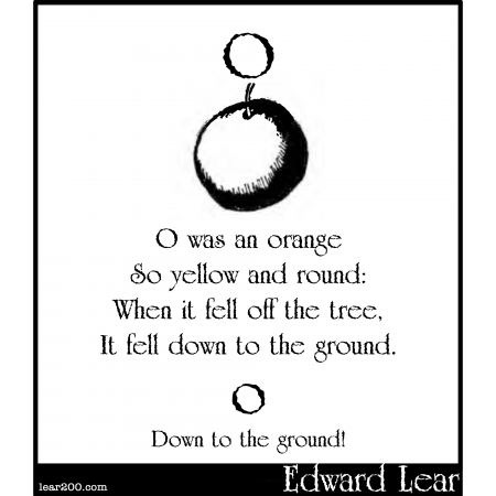 O was an orange