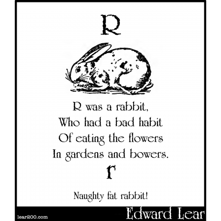 R was a rabbit