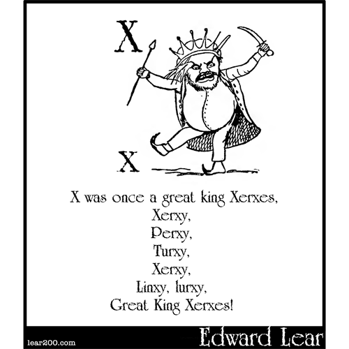 X was once a great king Xerxes