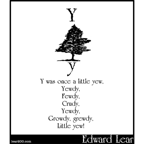 Y was once a little yew