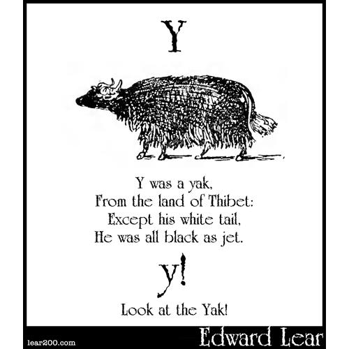 Y was a yak