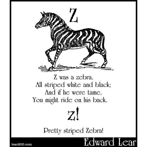 Z was a zebra
